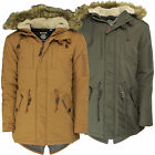 Mens Soulstar Parka Jacket/coat MJ JOEY *2 Colours Available*