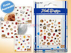 Nail-Art Nagelsticker Tattoos Motive Süßes * FOOD & FUN STICKER Auswahl  *