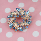 Nice Rhinestone Crystal Gold Wedding Bridal Bouquet Floral Flower Brooch Pins