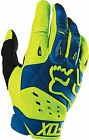 NEW FOX RACING PAWTECTOR RACE MX DIRTBIKE MOTOCROSS GLOVES BLUE/YELLOW ALL SIZES