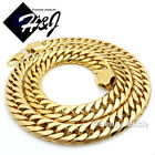 """24""""30""""36""""Stainless Steel HEAVY WIDE 16x5mm Gold Cuban Curb Link Chain Necklace"""