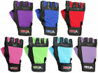 Weight Lifting Gloves Leather Gym Training Fitness Glove Multi Color