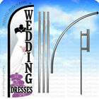 WEDDING DRESSES - Windless Swooper Flag 15' KIT Feather Banner Sign - wz