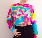 Tie Dye Sweater Unicorn Holographic Rave 90s Grunge Winter Jumper Christmas Gift
