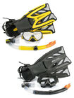 Adult Deluxe Osprey Silicone Snorkel, l Mask + Fins /Flippers Dive Snorkelling