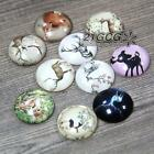 5X 25mm  Deer Elk Series Glass Cabochon Dome Flat Cover For Jewelry Setting #08
