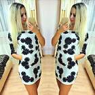 New Women Summer Bandage Print Evening Sexy Party Cocktail Top Skirt Mini Dress