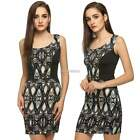 Sexy Women Gown Sleeveless Lady Dress Slim Cocktail Party Black Satin Dresses