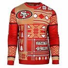 Ugly Christmas Sweater Nfl San Francisco 49Ers Patches Football Xmas Crew Neck