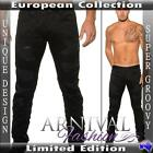 NEW mens RIPPED black JEANS FOR MEN european fashion MENSWEAR man DESTROYED JEAN