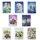PU Minions Frozen Home Leather Book Case Cover For iPad 2 3 4 Air 5 6 ipad Mini