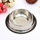 Stainless Steel Pet Dog Cat Puppy Food Water Single Bowl Feeding Dish Travel