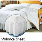 Plain Dyed Fitted Valance Sheet Poly-Cotton Bed Sheet Single Double King Super K