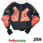ADULT BODY ARMOUR JACKET XTRM BLACK RED DEFLECTOR PROTECTION MX ENDURO MOTOCROSS