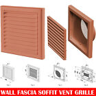 "Terracotta  Extractor Fan Wall Louvre Grill Grille  Ventilation 4"" , 5"" , 6"""