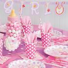 PINK CLOTHESLINE- Baby Shower Party Supplies,Games,Tableware,Decorations,Boy