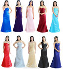 Long Bridesmaid Cocktail Slim Evening Formal Party Dress Size 6 8 10 12 14 16