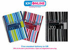 Pukka Pad A4 Black/Blue/Pink Stripes Jotta Notebook 200 Pages 80gsm Wirobound