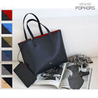 POPKORS P299 Vegetable Tanned Faux Leather Women Shoulder Bag Shopper Tote Bag