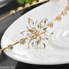 BD  1PC Hot Sale New Fashion Women Girl Snowflakes Crystal Hair Hoop Clips
