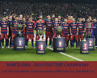 Barcelona F.C. -  5 Championships in  2015, 8x10 Color Team Photo