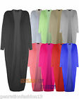 LADIES WOMENS LONG BATWING SLEEVE BOYFRIEND OPEN CARDIGAN KIMONO SHAWL DRESS TOP