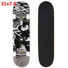 """Maple Wood Deck Complete Skateboard Stained 7.6"""" Skateboards"""