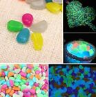100pcs Glow in the dark Pebbles Stones Fish Tank Aquarium Home Garden Decor Hot