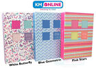 """5""""x7"""" 100 Or 200 Pockets Standard Photo Album in White, Blue or Turquoise Design"""