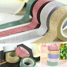 10M Glitter Washi Tape Paper Self Adhesive Stick On Sticky Craft Decorative DIY
