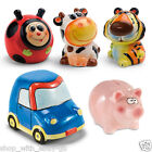 Ceramic Piggy Bank Coins Money Box Safe Savings Cash Gift Novelty Kids Pig Car