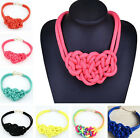 Fashion Creative Women Cotton Hand-woven Rope Jewelry Charm Knot Necklace