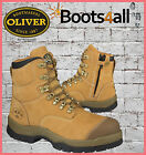 NEW Oliver All Terrains ATs Men's Work Boots Safety Steel Toe ZIP Lace Up 55232Z