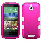 For HTC 510 Desire Hybrid Tuff Hard Protective ShockProof Rubber TPU Case Cover