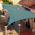 Sun Shade Sail UV Top Outdoor Canopy Patio Lawn Square Rectangle 12' and 16'