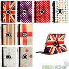 Retro Designed Leather Rotating 360° Case Stand Cover for Apple iPad Air 1 & 2