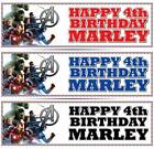 "2 x PERSONALISED AVENGERS BIRTHDAY BANNER 3ft - 36 ""x 11"" - ANY NAME ANY AGE"