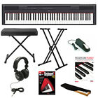 Yamaha P-115 88-Key Digital Piano (Black) with Deluxe Accessory Bundle