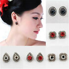 1 Pair Vintage Women Glass Crystal Rhinestone Ear Studs Earrings Jewelry Gifts