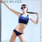 Orig REALISE athletic swimsuit two-piece in navy SHINY WET Lycra Japan Badeanzug
