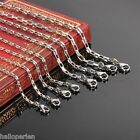 1PC Women Dull Silver Tone Stainless Steel Long Box Chain Necklace DIY