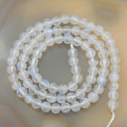 """Natural White Moonstone Gemstone Round Loose Beads 15.5"""" 4mm 5mm 6mm 8mm 10mm"""