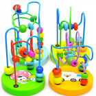 Baby Kids Colorful Mini Around Beads Wire Maze Wooden Toys Early Education Toys