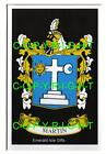 MARTIN Family Coat of Arms Crest - Choice of Mount or Framed