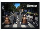 Doctor Who Black Wooden Framed Abbey Road Dr Who Maxi Poster 91.5x61cm