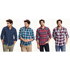 NWT Old Navy Men Classic Regular-Fit Long Sleeve Plaid Flannel Shirt 100% cotton