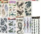 8 or 9  SHEETS OF HALLOWEEN PARTY TEMPORARY TATTOOS BODY STICKERS  - 3 choice