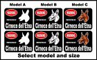 2 Warning protected by Cirneco dellEtna guard dog breed decals sticker stickers