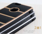 Gold 2 in 1 Flak Jacket Shockproof Hard Heavy Rubber Case For iPhone 6/6s/Plus