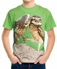 New Three Owl Chicken Boys Kid Youth T-Shirt Tee Age 3-13